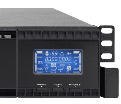 Panel LCD de el Sai Rack 19 Online Lapara 2000 VA LA-ON-2K-RACK